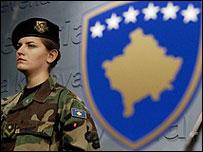Солдат из Службы безопасности Косова