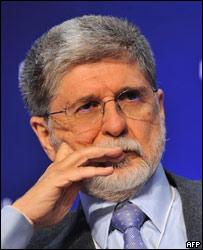 Celso Amorim, canciller de Brasil.