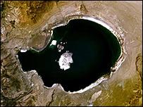 Lago de arsénico. Foto: NASA