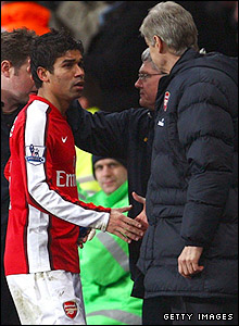 Eduardo and Arsene Wenger