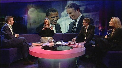 The Newsnight Review panel discuss political satire