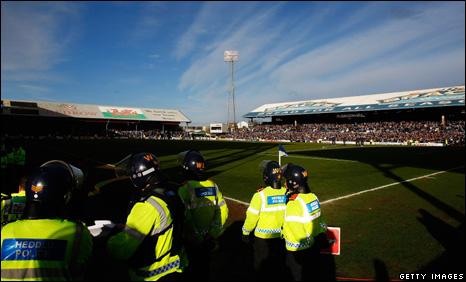 Police at Ninian Park