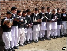 Schoolchildren in Mingora