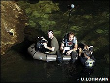 Production team in the cave (Image: Ulla Lohmann)