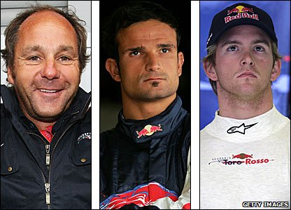 Gerhard Berger, Vitantonio Liuzzi and Scott Speed
