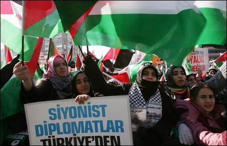 Turkish demonstration against Israel (18/01/2009)