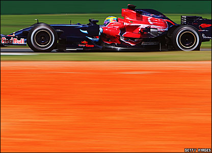 Sebastien Bourdais in action at Albert Park 2007