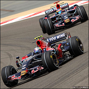 Sebastian Vettel leads team-mate Sebastien Bourdais in Bahrain