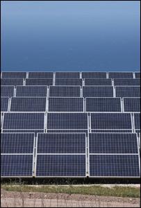 Paneles solares en California.