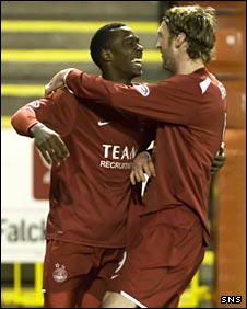 Aberdeen duo Javan Vidal (left) and Lee Miller