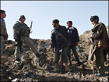 US troops on patrol in Afghanistan - 17/2/2009