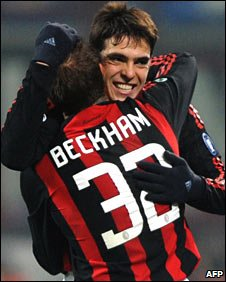 Kaka is keen to see David Beckham remain at Milan