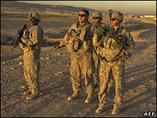 US troops in Afghanistan. File photo