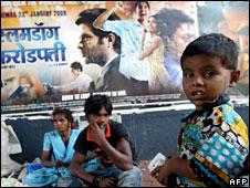 Slumdog Millionaire poster in Mumbai