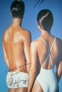 Brits tanning poster