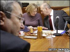 Ehud Barak (Labour), with Tzipi Livni and Ehud Olmert in cabinet