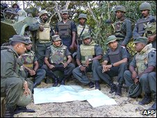 Sri Lankan troops in Mullaittivu