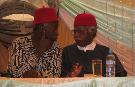 Chinua Achebe and colleague