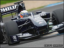 Nico Hulkenberg tests the 2009 Williams at Jerez  on 10 February