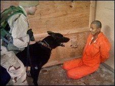 Iraqi detainee at Abu Ghraib