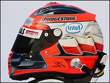 Robert Kubica's 2009 helmet