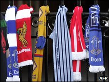 Scarf tributes on the Shankley Gates