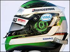 Nick Heidfeld's 2009 helmet