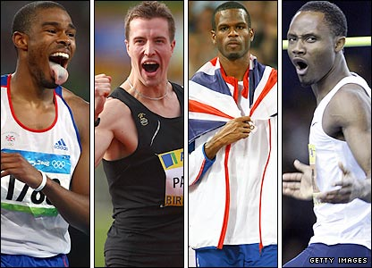 Britain's high jumpers
