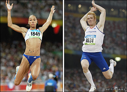 Jade Johnson and Greg Rutherford