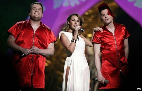 James Corden, Kylie Minogue and Matt Horne