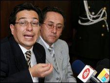 FM Fander Falconi in Quito, 18 February