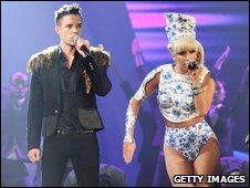 Brandon Flowers and Lady GaGa