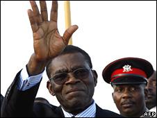 File pic of Equatorial Guinea President Teodoro Obiang Nguema