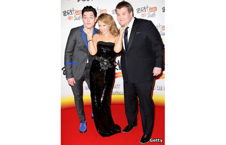 Mathew Horne, Kylie Minogue and James Corden