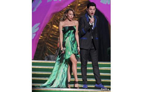 Kylie Minogue and Mathew Horne