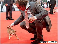 Mickey Rourke and Loki at the Venice Film Festival