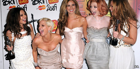 Cheryl Cole, Sarah Harding, Nadine Coyle, Nicola Roberts and Kimberley Walsh from Girls Aloud