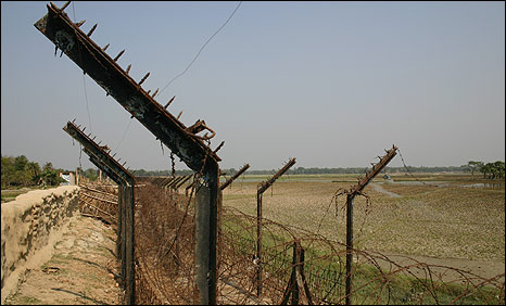 Fence on the India-Bangladesh border