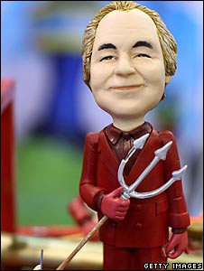 Figurine of US financier Bernard Madoff