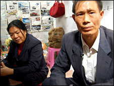 Migrant worker Guo Debing and his wife He Pingfen
