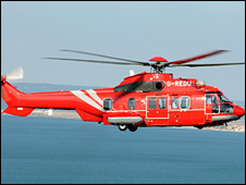 Super Puma helicopter involved in accident