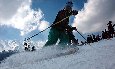 Skiier at Gulmarg