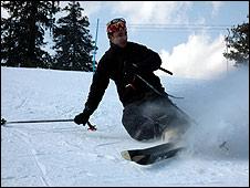 Skier in Kashmir