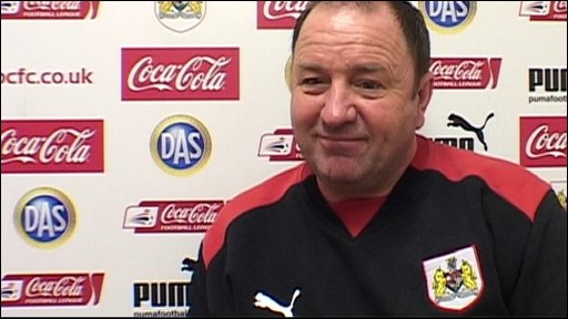 Bristol City boss Gary Johnson