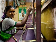 Indian woman who Hand in Hand has helped