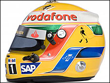 Lewis Hamilton's 2009 helmet