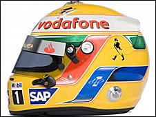 Lewis Hamilton's 2009 helmet