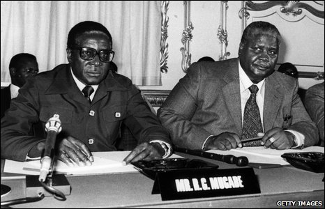 Robert Mugabe, at Lancaster House, London, 1979
