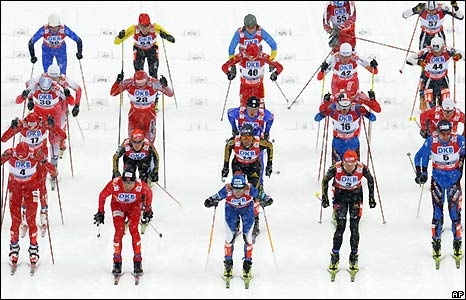 Men's 10km race at the Nordic World Ski Championships in the Czech Republic