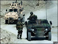 French and US forces in Afghanistan